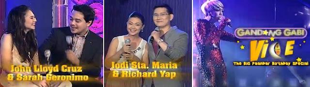 Gandang Gabi Vice March 31 2013 | Richard-Jodi, John Lloyd-Sarah
