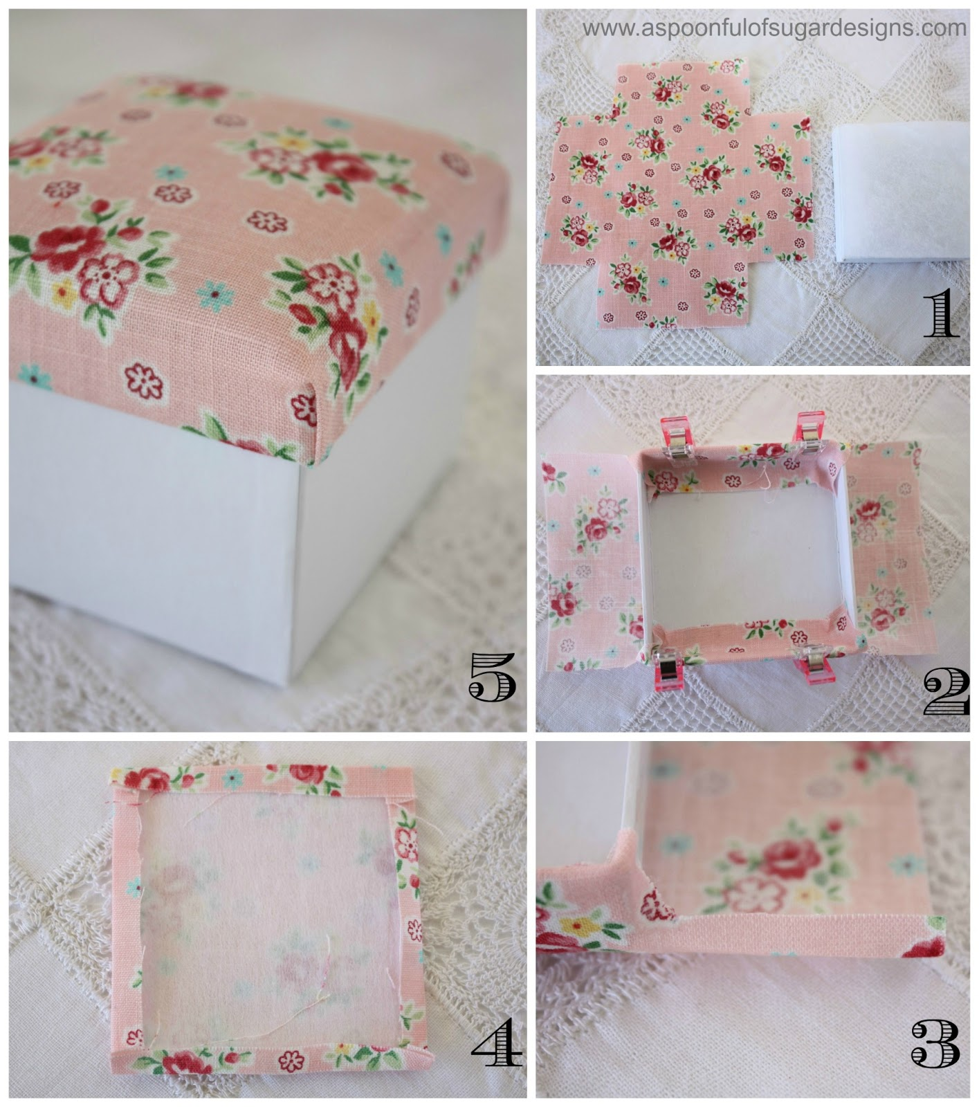 A fabric covered box country living downunder for Fabric covered boxes craft