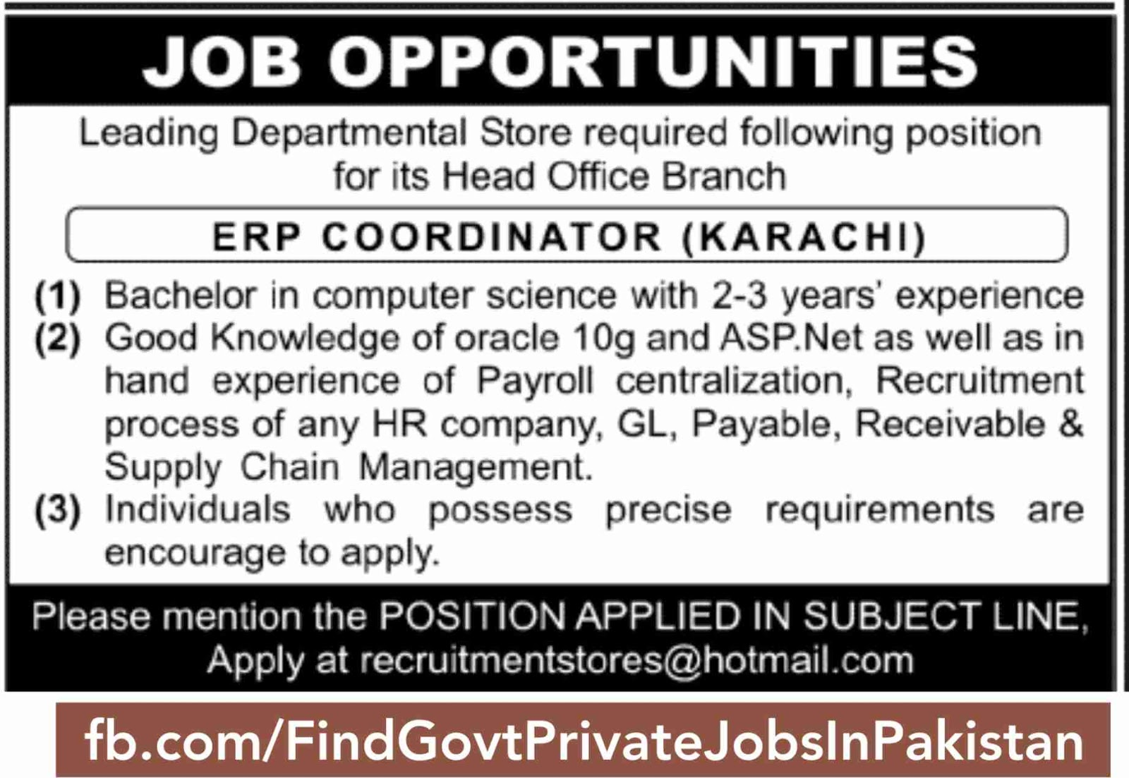 daily jang newspaper job ads