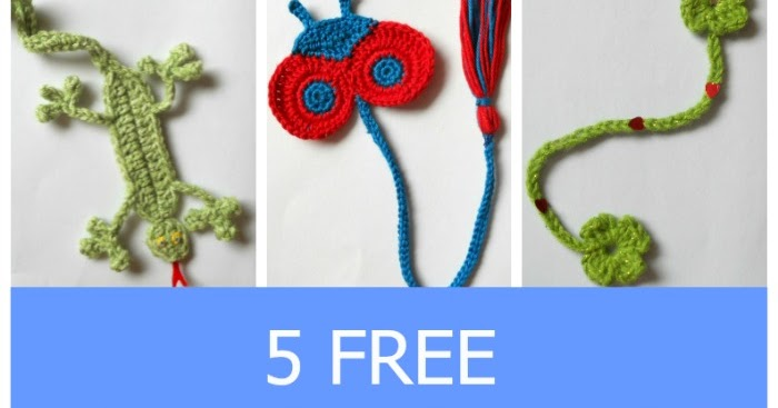 My Hobby Is Crochet Bookmarks For Kids 5 Free Crochet Patterns