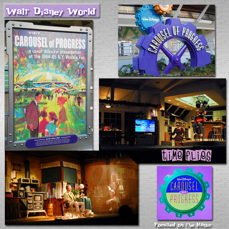 Disney Wordless Wednesday Blog Hop Carousel of Progress Retro Theme