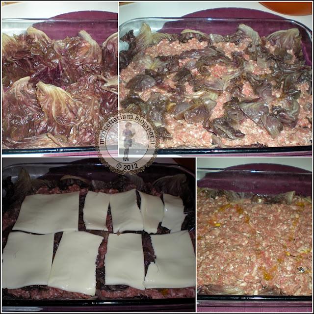 Sformato di radicchio e carne macinata
