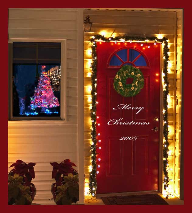 Awesome Front Door Christmas Decorating Ideas · Inspirational Letters By  Millie