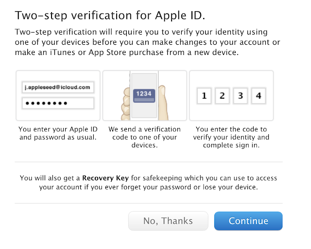 Apple adds two factor authentication to iCloud and Apple ID