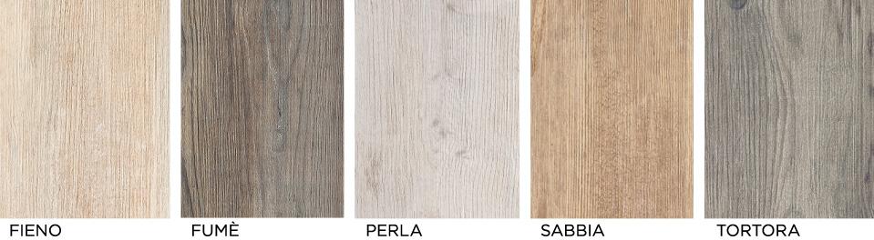 Il gres si fatto legno con larix di ariana idea arredo - Piastrelle color tortora ...