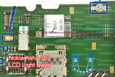 nokia asha 303 lcd light jumper solotion ways nokia asha 303 lcd light