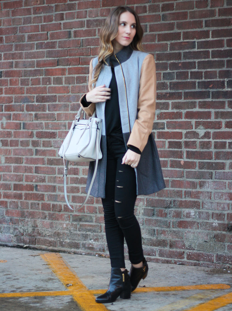 colorblock winter coat