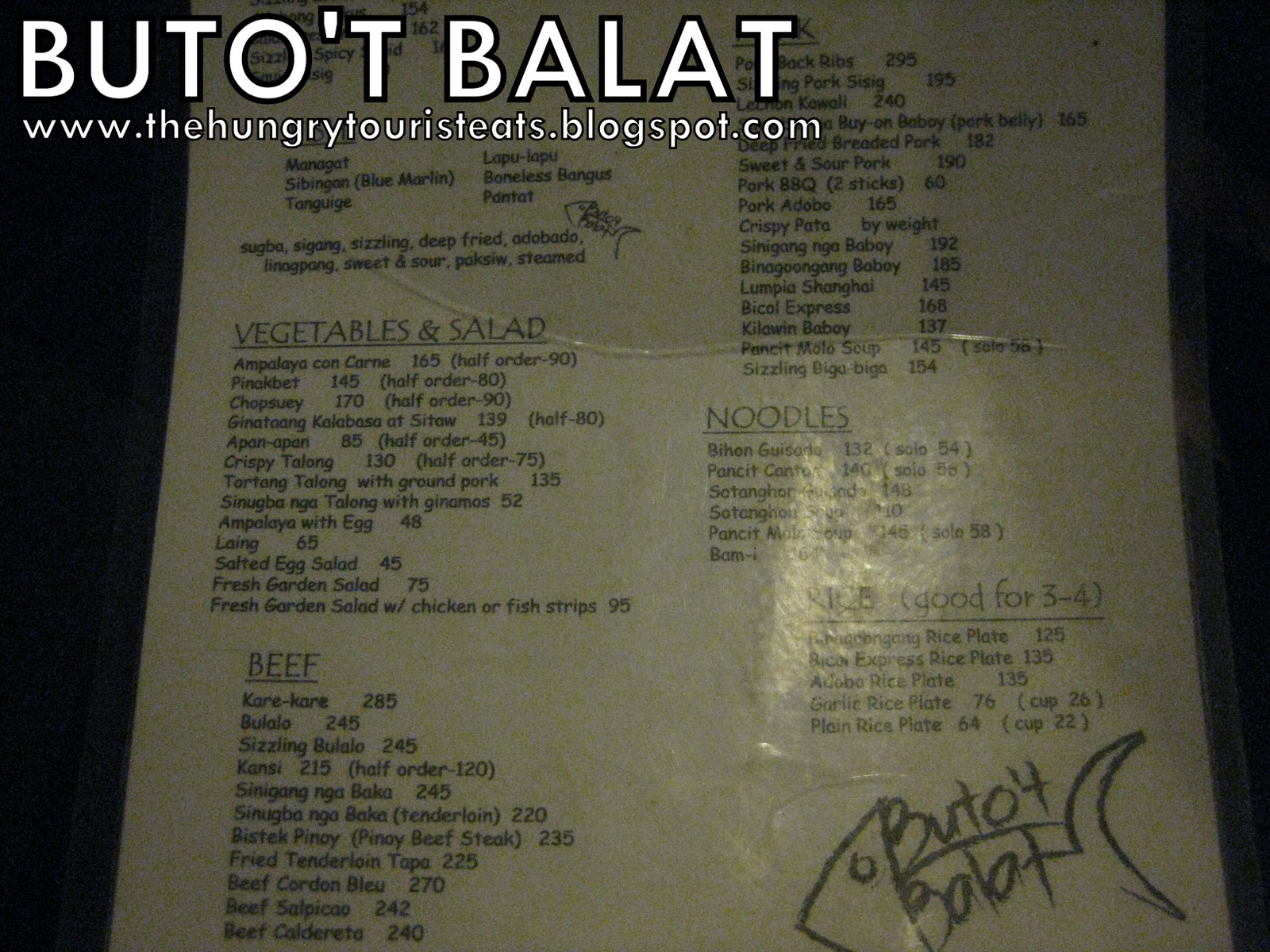 The Hungry Tourist Eats: Buto\'t Balat