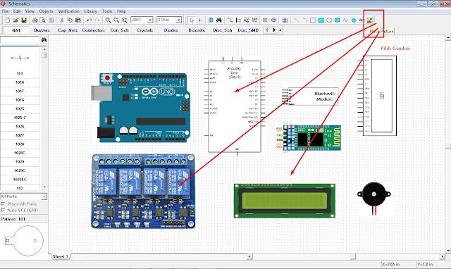 Cara Menggambar Skema Rangkaian dan Wiring Diagram Elektronik Dengan Diptrace Skematik