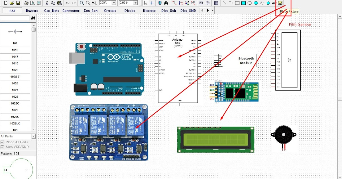 cara menggambar skema rangkaian dan wiring diagram elektronik dengan diptrace skematik robotic