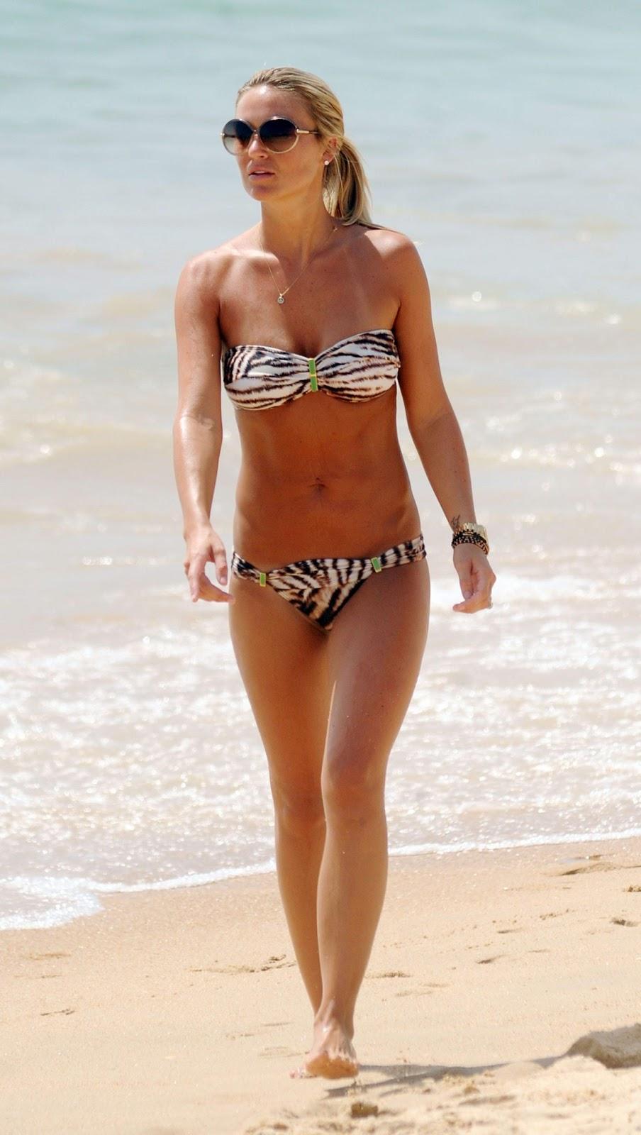 alex curran orange bikini
