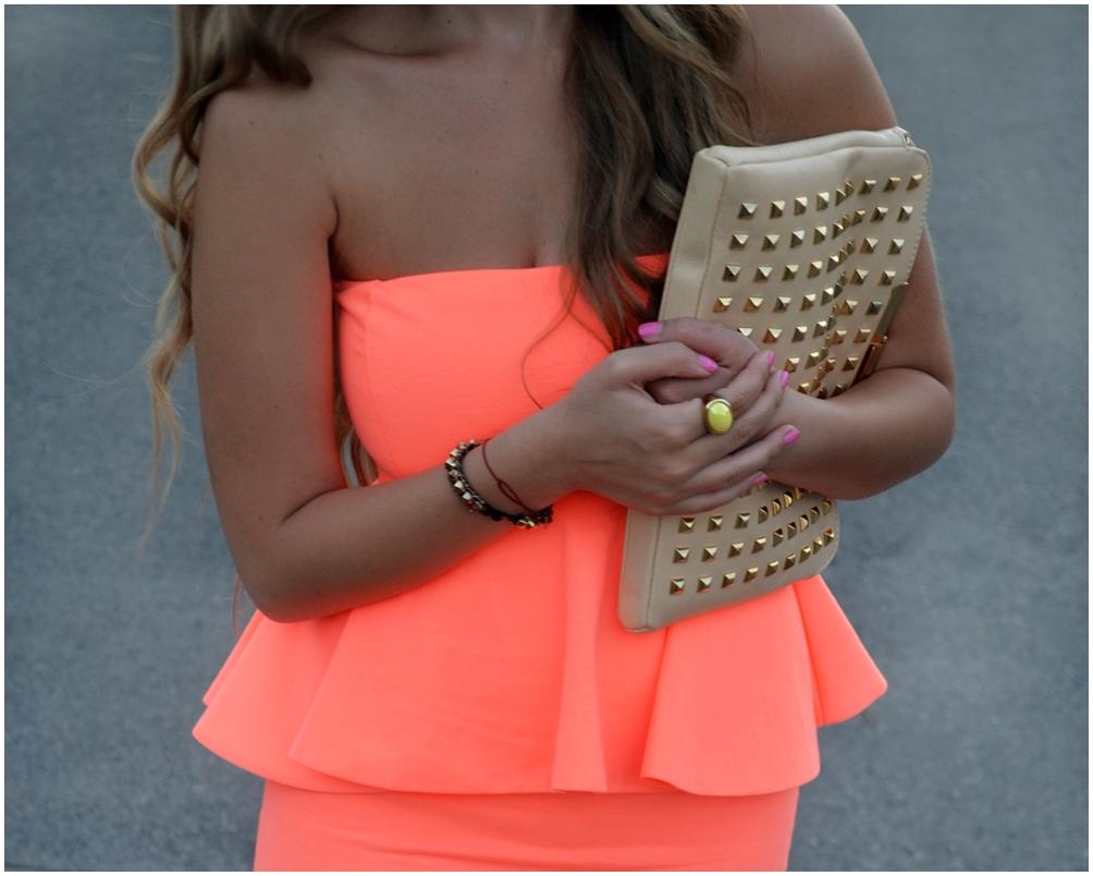 Zara kleid neon orange
