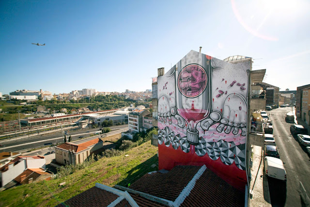 Second Street Art Mural By How Nosm For Underdogs 10 On The Streets Of Lisbon, Portugal 5