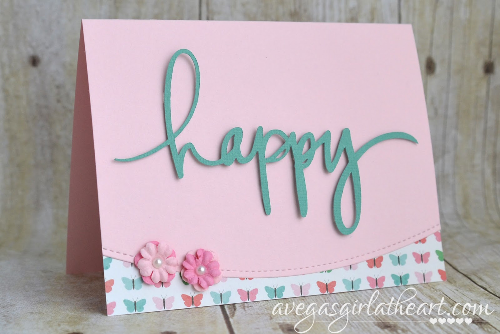 A vegas girl at heart birthday card card for her birthday last month so i pulled out a new to me card edge die set from pretty pink posh and an adorable 6x6 paper pad from pebbles and got bookmarktalkfo Images