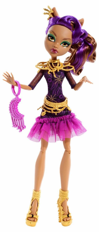 TOYS : JUGUETES - MONSTER HIGH  Frights, Camera, Action! Alfombra negra - Clawdeen Wolf  Black Carpet | Doll | Muñeca | Producto Oficial 2013  Mattel BDF26 | A partir de 6 años