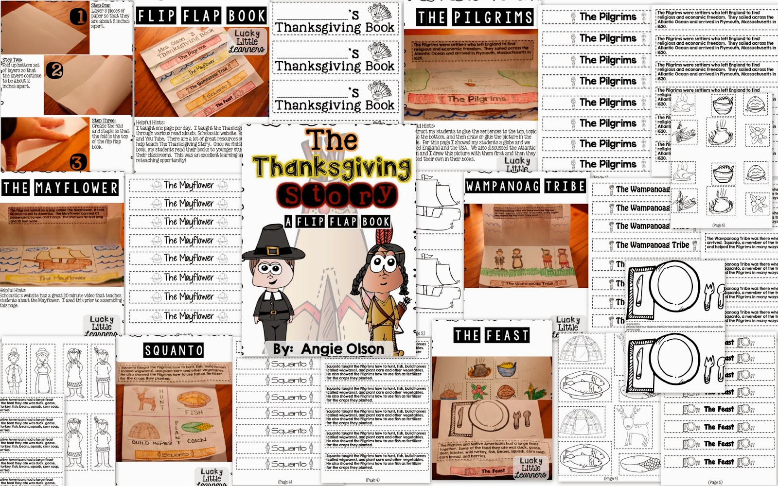 http://www.teacherspayteachers.com/Product/The-Thanksgiving-Story-A-Flip-Flap-Book-1566578