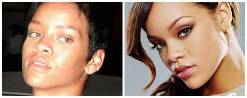 rihanna antes y despues