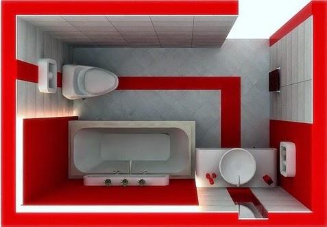 inilah contoh model kamar mandi minimalis desain 2015
