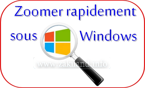 Zoomer rapidement sous Windows