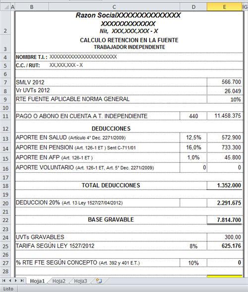 Formato En Excel Para Calculo De Prestaciones Laborales