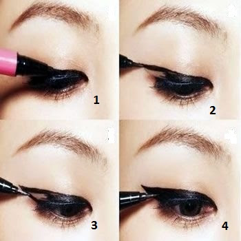 Some Easy Steps to Get the Winged Eyeliner Look or cat eye liner look