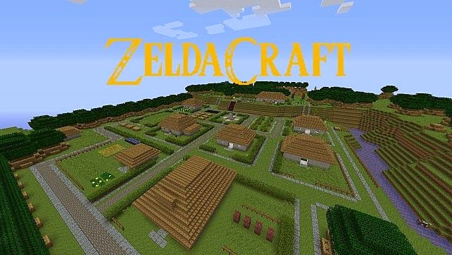 Minecraft Mods New Zelda Adventure 1.7.10/1.7.9/1.7.2 Map