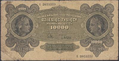 Polonia 10000 Zlotych 1922 P# 32