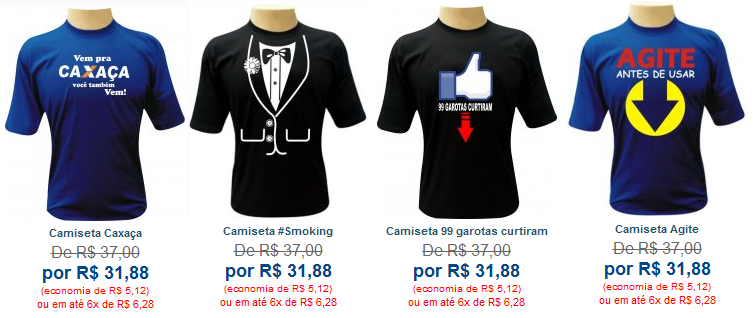 Adquirir sua camiseta personalizada online é muito fácil 2d272639137e8