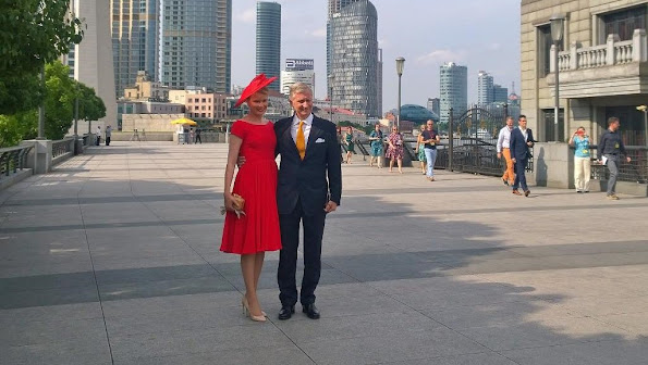 Queen Mathilde of Belgium and King Philippe of Belgium visit Shanghai