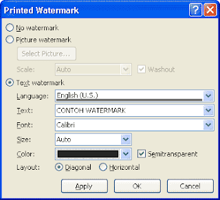 mengatur watermark