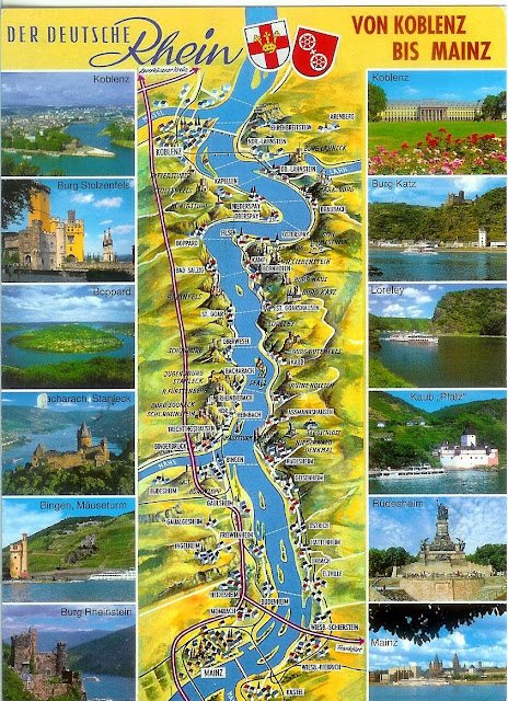 Post card of the Rhine River Valley The Tipsy Terrier Pub Blog
