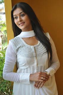 Actress Pooja Jhaveri Pictures in White Salwar Kameez at L7 Movie Opening  017
