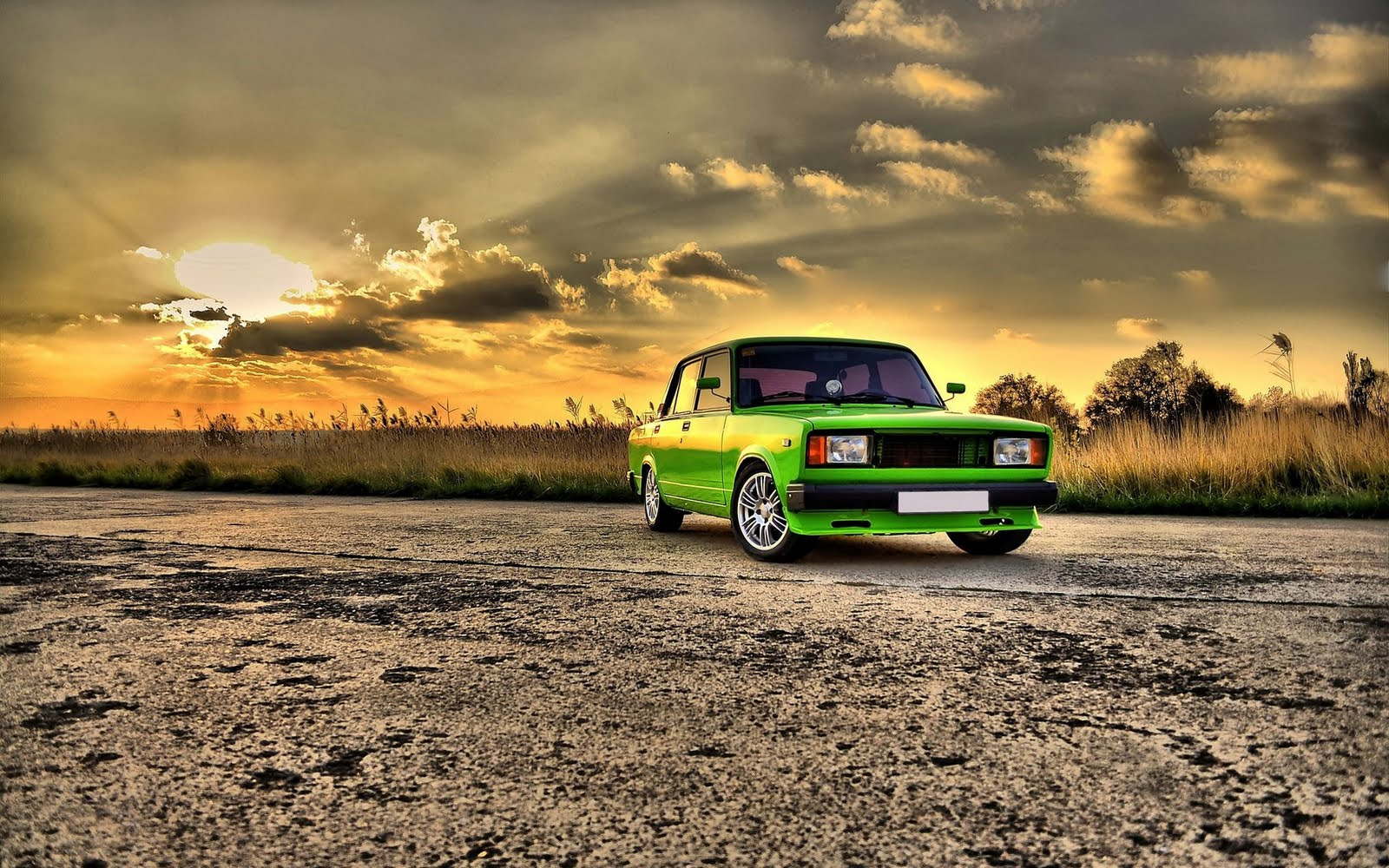 Awesome HD Wallpaper Collection Super Green Car Custom