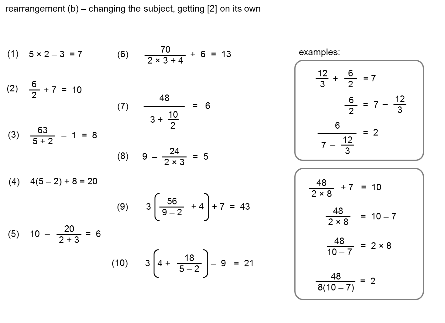 MEDIAN Don Steward mathematics teaching rearrange steps – Rearranging Formulas Worksheet