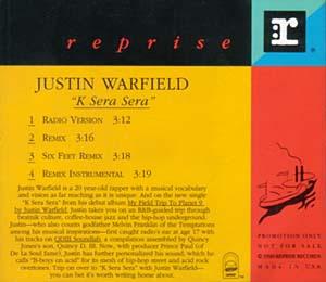 Justin Warfield – K Sera Sera (Promo CDS) (1993) (VBR)