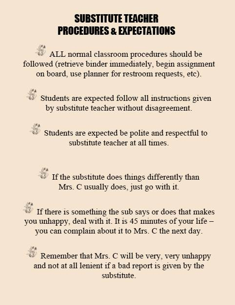 Classroom Management Ideas For Substitutes : Facs classroom ideas substitute teachers