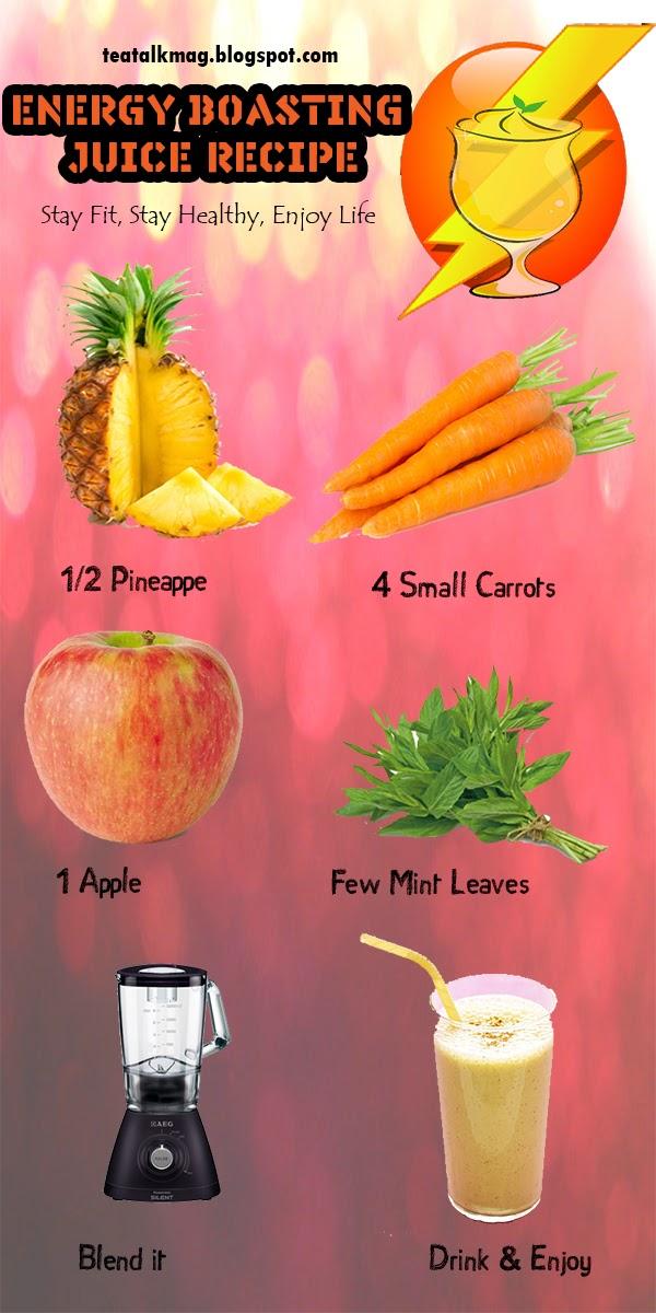 Energy Boasting Juice Recipe