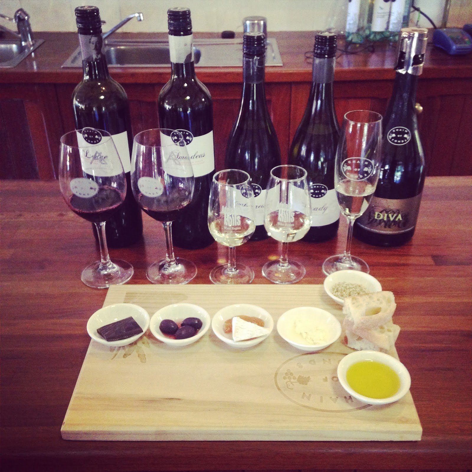 Cabernet Sauvignon, Chain of Ponds, Chardonnay, Gumeracha, Red Wine, SA Wine, Sauvignon Blanc, Shiraz, Tribute Wine Flight, White Wine, Wine, Winery,