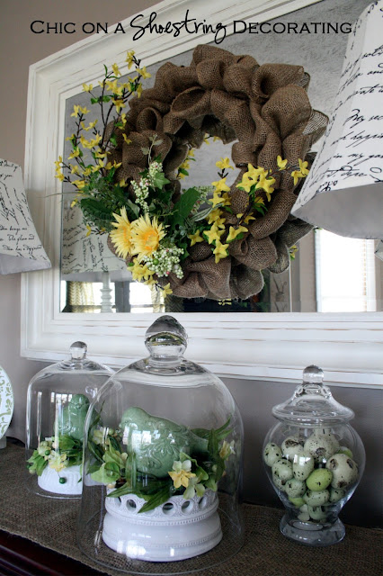 DIY Burlap Spring Wreath Tutorial Chic on a Shoestring Decorating