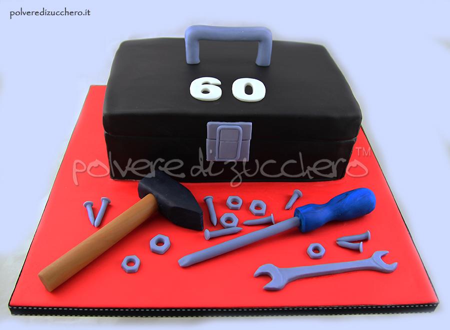 cake design pasta di zucchero cassetta degli attrezzi box tools polvere di zucchero