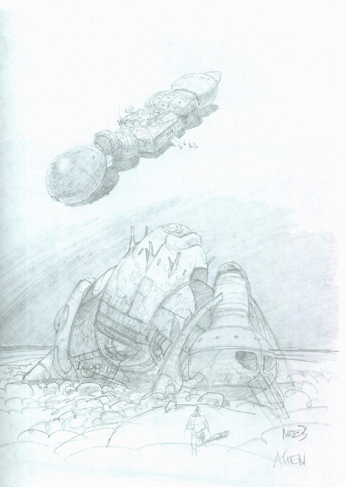 Alien Explorations Alien Moebius Alien Spaceship Concepts For