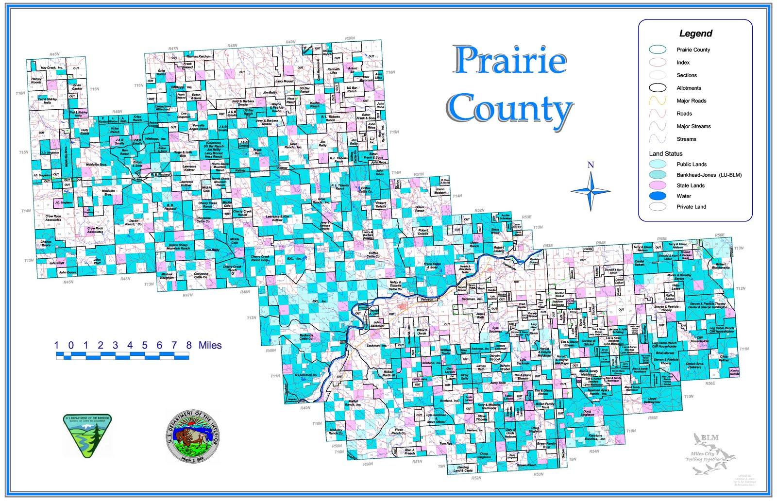 cadastral map prairie county mt