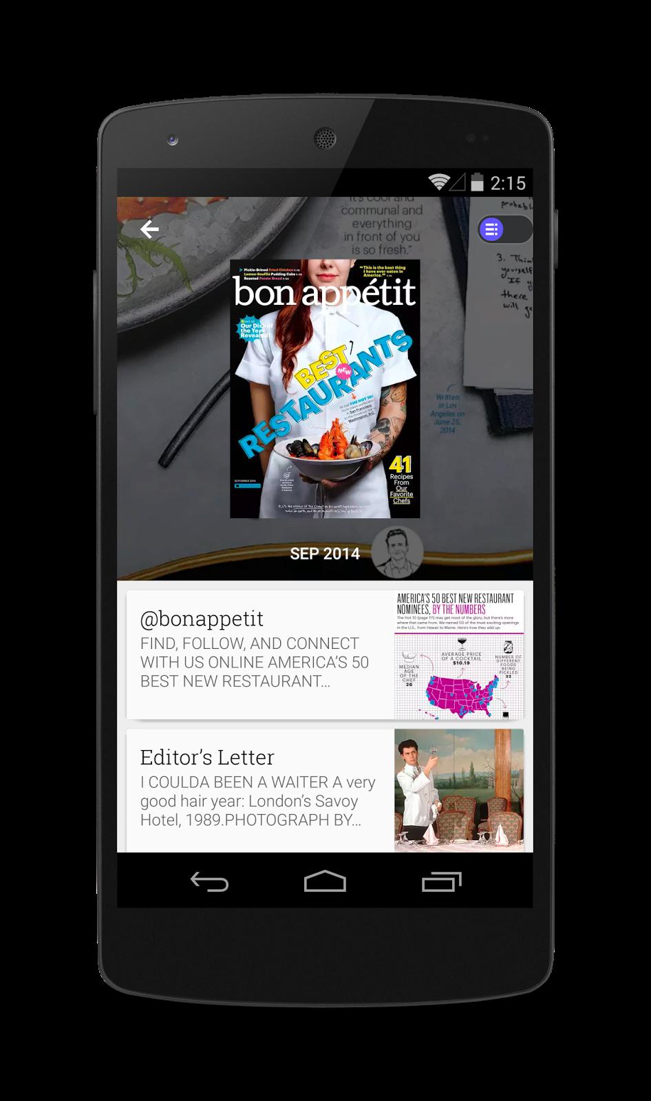 Un nuevo aspecto para Google Play Quiosco