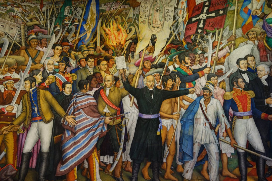 Travels of a retired teacher art in chapultepec castle for A mural is painted on a