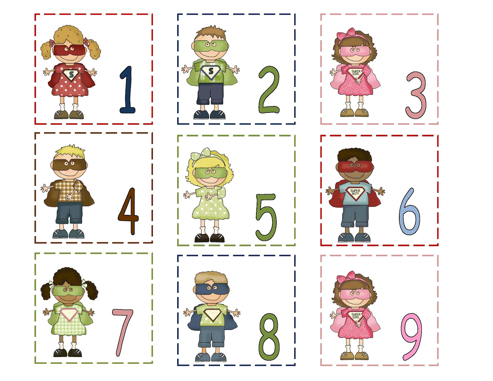 June Calendar Numbers For Preschool : June preschool printables