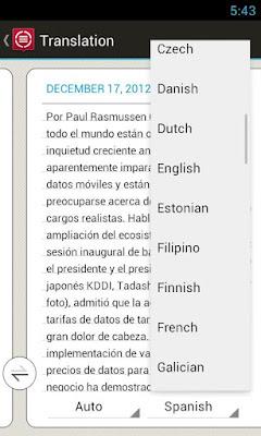 ABBYY TextGrabber + Translator app