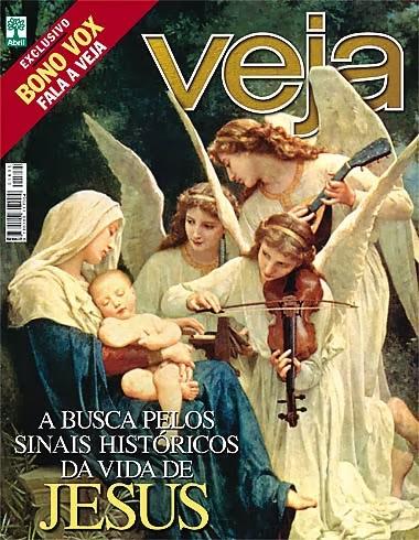 Capa da revista Veja com a matéria  dos caminhos feitos  pela busca por Jesus