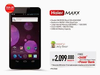 Harga dan Spesifikasi Smartfren Haier Maxx