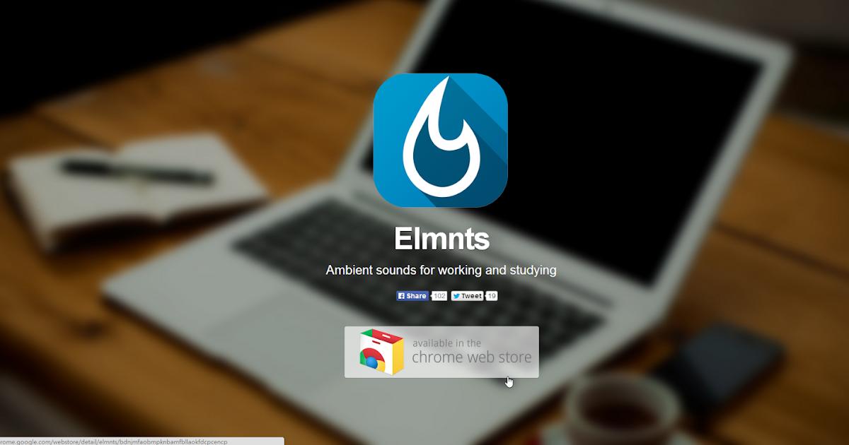 比安靜更專心的環境音效 Elmnts 離線可用 Chrome App