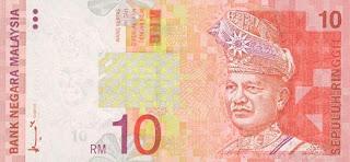RM10, 10 Ringgit, Ringgit Malaysia, Duit, Wang